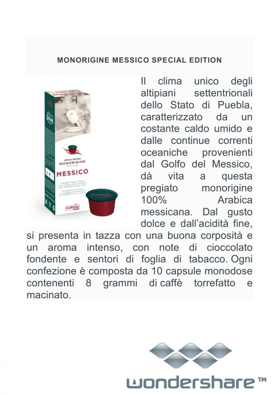 MONORIGINE MESSICO 100% ARABICA